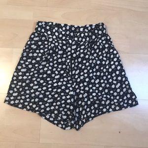 Floral High Waist Slouchy Shorts